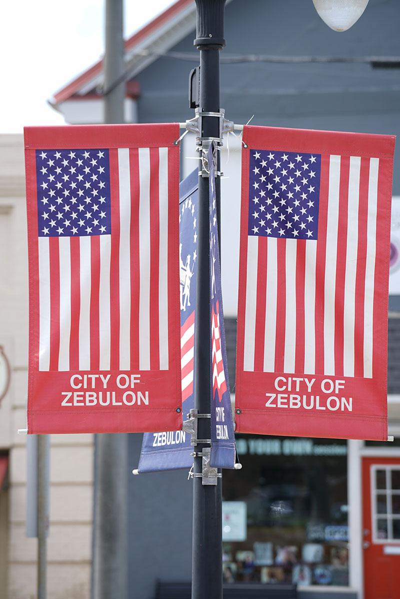 Zebulon flags